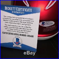 Bill Belichick Signed New England Patriots Blaze Pats Mini Helmet Beckett Coa