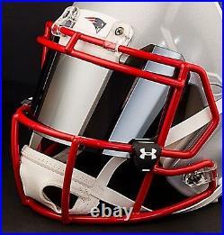 CUSTOM NEW ENGLAND PATRIOTS Full Size NFL Riddell SPEED Football Helmet