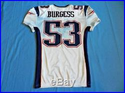 Derrick Burgess 2009 New England Patriots game used jersey NFL Authenticated