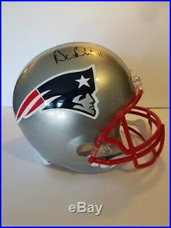 Drew Bledsoe Autographed New England Patriots Full-Size Helmet Beckett COA