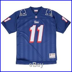 Drew Bledsoe New England Patriots Men's NFL Mitchell & Ness Premier Blue Jersey