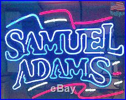 England Patriots Samuel Adams Pub Bar Neon Sign 20''x16'' From USA