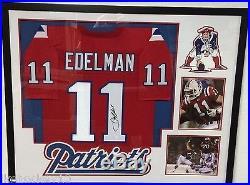 Framed Julian Edelman Autographed Signed New England Patriots Jersey Jsa