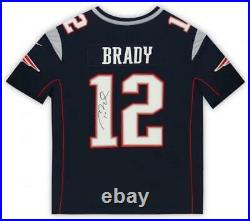 Framed Tom Brady New England Patriots Autographed Nike Limited Navy Jersey