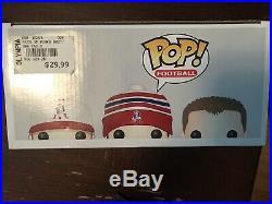 Funko POP! New England Patriots 3 Pack Brady Gronkowski Edelman Mint HOF Bound