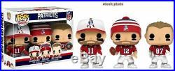 Funko Pop! NFL Vinyl Figure 3-PK New England Patriots Brady Gronkowski Edelman