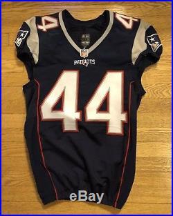 GAME WORN LOGAN STOKES JERSEY 2014 Nike New England Patriots Football