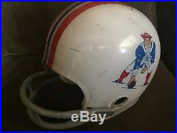 Game Used Worn Football Helmet Vintage Rawlings NEW ENGLAND PATRIOTS Clear Shell