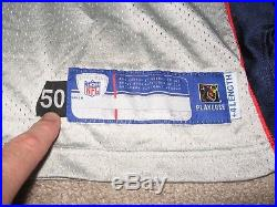 Game Worn/Issued Dan Klecko New England Patriots Silver Jersey-2003