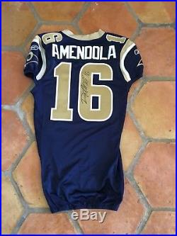 Game Worn/Issued St Louis Rams New England Patriots Danny Amendola Jersey