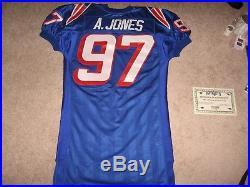 Game Worn New England Patriots Aaron Jones Road Jersey-1995