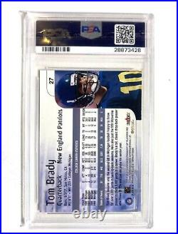 Gem Mint 10 Tom Brady ROOKIE Card, 2000 Fleer Skybox Impact RC #27