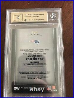 Graded Tom Brady Auto Game Used Jersey Card 1/1
