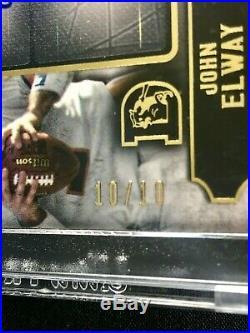 JOHN ELWAY / PEYTON MANNING - 2015 Topps Supreme DUAL AUTO #10/10 - BRONCOS
