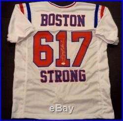 JULIAN EDELMAN Autographed New England Patriots Boston Strong Jersey JSA COA