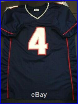Jarrett Stidham New England Patriots Autographed Blue Style Jersey XL Coa JSA