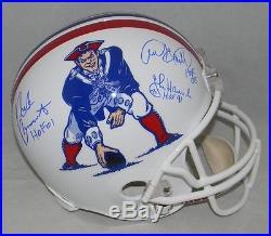 John Hannah Andre Tippett Nick Buoniconti Signed New England Patriots F/s Helmet