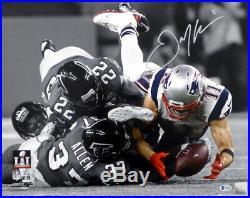 Julian Edelman Autographed 16x20 Photo Patriots Super Bowl LI Beckett 147922