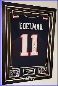 Julian Edelman New ENGLAND patriots Signed Jersey Shirt Autograph Display