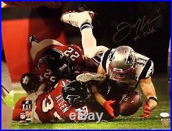 Julian Edelman New England Patriots Autographed Inscribed 16x20 photo JSA Coa