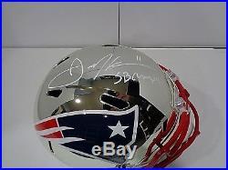 Julian Edelman New England Patriots Autographed Inscribed Chrome Rep Helmet JSA