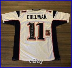Julian Edelman New England Patriots Signed Custom Jersey White JSA Witness 11