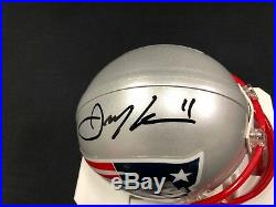 Julian Edelman New England Patriots Signed Mini Helmet Jsa Witness Coa Wpp02577
