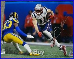 Julian Edelman New England Patriots Signed SB LIII MVP Action 16x20 Photo NEP
