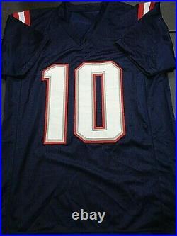 Mac Jones New England Patriots Autographed Custom Blue Jersey W-Coa JSA