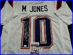 Mac Jones New England Patriots Autographed Custom White Jersey W-Coa JSA