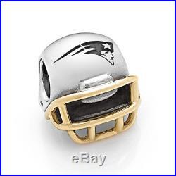 NEW! Authentic Pandora New England Patriots Helmet NFL Charm USB790570-G119