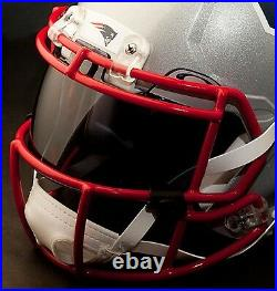 NEW ENGLAND PATRIOTS NFL Authentic GAMEDAY Football Helmet with OAKLEY Eye Shield