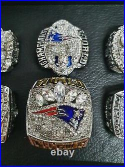 NEW ENGLAND PATRIOTS NFL Superbowl Championship Tom Brady RING SET in BOX UK