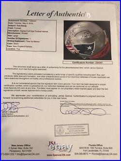 NEW ENGLAND PATRIOTS TOM BRADY signed HAND PAINTED AUTHENTIC HELMET TRISTAR JSA