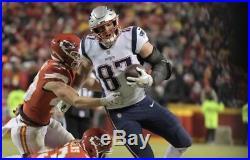 NFL EDELMAN GRONKOWSKI Autogramm Football New England PATRIOTS Super Bowl Brady