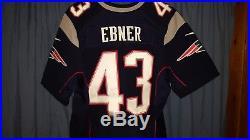 Nate Ebner New England Patriots Navy Blue Nike Elite Jersey Size 48