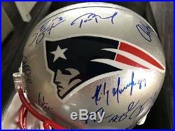 New England PATRIOTS BRADY Autogramm Football Helm NFL Edelman USA Gronkowski