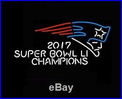 New England Patriots 2017 Super Bowl Champions Beer Bar Neon Sign 24x20