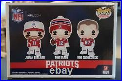 New England Patriots 3 Pack Funko Pop Tom Brady Rob Gronkowski Julian Edelman