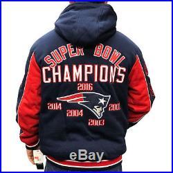 New England Patriots 5-Time Super Bowl Champions 1ST CLASS Varsity Heavy Jacket