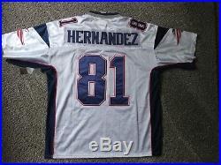 New England Patriots #81 Aaron Hernandez White Jersey Size 52