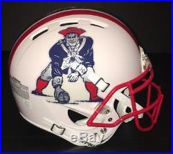 New England Patriots Custom Throwback Authentic Helmet! Tom Brady! Gronkowski