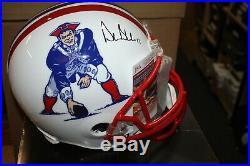 New England Patriots Drew Bledsoe #11 Signed F/s Replica Throwback Helmet Jsa
