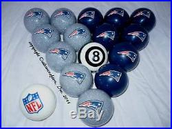 New England Patriots Football Billiard Pool Cue Ball Set FREE SHIPPING