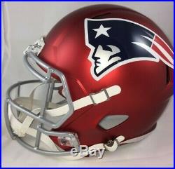 New England Patriots Full Size Speed Replica Blaze Helmet Unsigned NFL Riddell