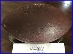 New England Patriots Playoffs Game Used Football Tom Brady NFL COA Edelman Rare