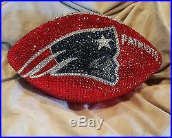 New England Patriots Swarovski Crystal Stoned Football