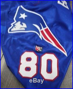 New England Patriots Troy Brown #80 Wilson Pro Line Authentic Cut Size 46 Jersey