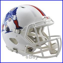 New England Patriots White Riddell NFL Full Size Authentic Speed Football Helmet