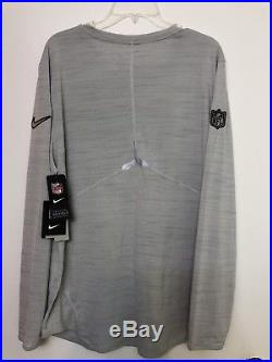 ce3970d1b Nike Mens NEW ENGLAND PATRIOTS SUPER BOWL LI MEDIA NIGHT LONG SLEEVE SHIRT  Sz L